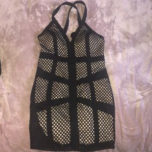 NWT Black and Tan Cage dress